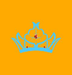 Flat icons on theme of andorra crown vector
