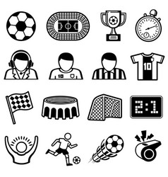 football sports icons soccer team symbols vector image