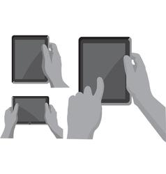 Gps navigation in hands vector