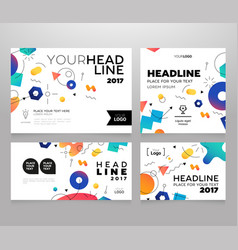 Headline banner - template vector