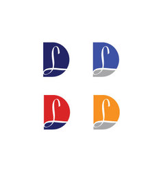 Initials with letter L and letter D vector image vector image