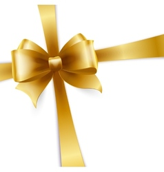 Invitation card with gold ribbon vector