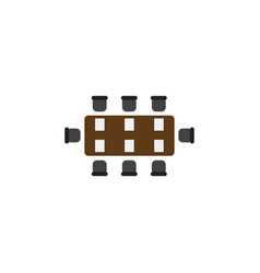 Isolated table flat icon boardroom element vector