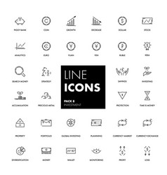 line icons set investment vector image