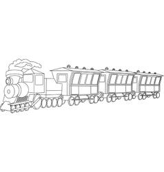 Locomotive vintage style vector