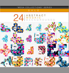mega collection of 24 low poly circle triangle vector image vector image