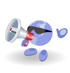 megaphone world vector image vector image