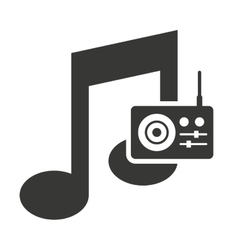 music note silhouette icon vector image