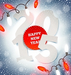 New years greeting on a snow vector image vector image
