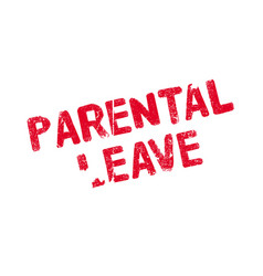 parental leave rubber stamp vector image