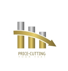 Price cutting label vector image vector image