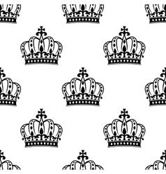 Seamless royal crowns pattern background vector
