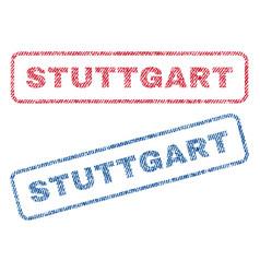 Stuttgart textile stamps vector