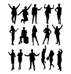 Success Business Activity Silhouettes vector image vector image
