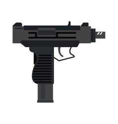 UZI submachine gun military rifle army and weapon vector image
