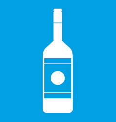 Vodka icon white vector