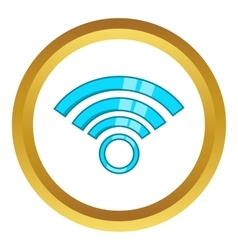 Wireless network symbol icon vector image vector image
