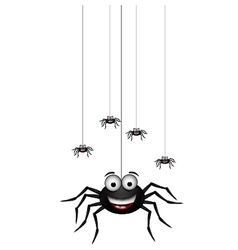 funny family of spider cartoon vector image