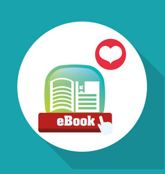 Ebook design reading icon white backgroun vector