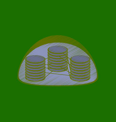 Flat shading style icon chloroplast vector