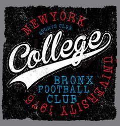 Athletic dept new york varsity sport print and vector