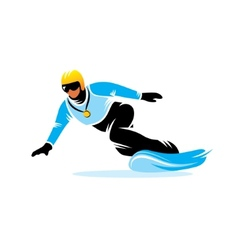Snowboarding sign vector