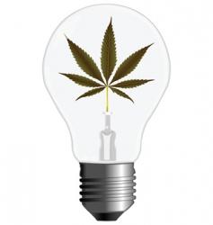 cannabis energy vector image