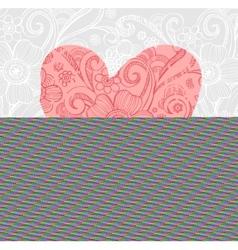 Valentine background wiht ornate heart vector image