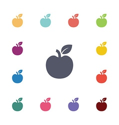 Apple flat icons set vector