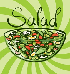 salad vector image