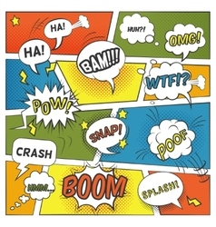 Emotional and sound comic bubbles set vector