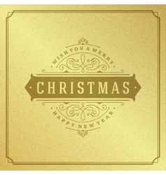 Merry christmas typography greeting card design vector