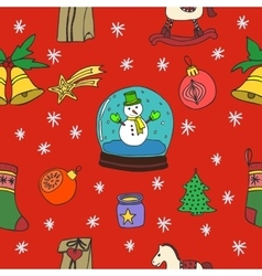 New year and merry christmas seamless pattern vector