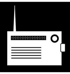 White radio silhouette vector