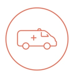 Ambulance car line icon vector