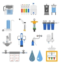 Water filters set vector