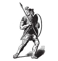 A roman soldier vintage engraving vector