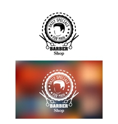 Barber shop emblem or sign vector