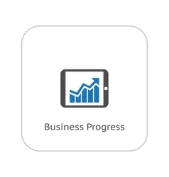 Business Progress Icon Flat Design vector image vector image