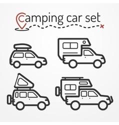 Camping car set vector