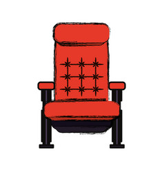 Cinema chair isolated vector