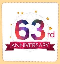 Colorful polygonal anniversary logo 2 063 vector