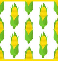 corn seamless pattern cartoon flat style vector image vector image