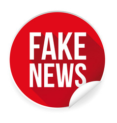 Fake news label sticker vector