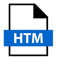 File name extension htm type vector