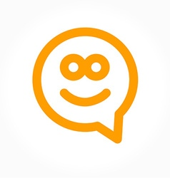 happy smile speech-bubble vector image vector image
