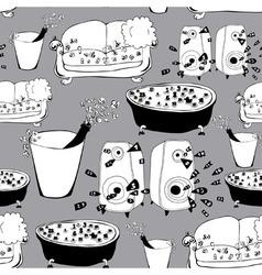 Interior pattern vector image vector image