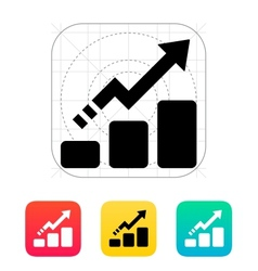 Line chart up icon vector image
