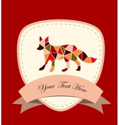 Mosaic fox vector