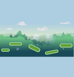 seamless cartoon nature landscape with different vector image vector image